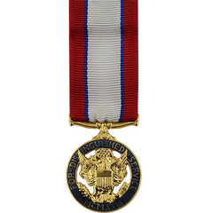 Miniature Medal- 24k Gold Plated: Army Distinguished Service