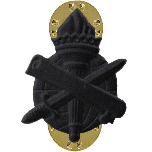 Army Officer Collar Device: Civil Affairs - black metal