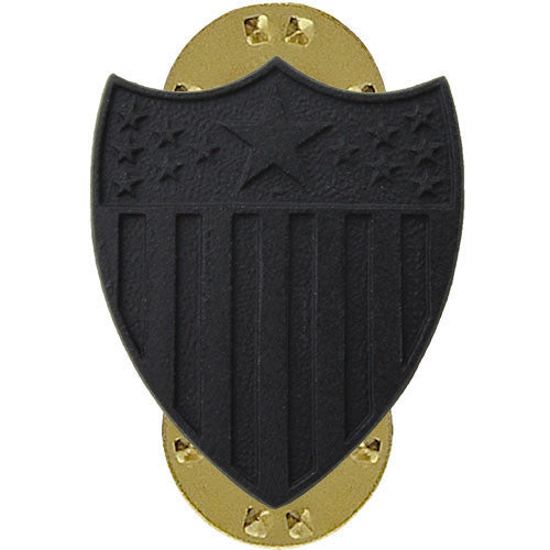 Army Officer Collar Device: Adjutant General - black metal