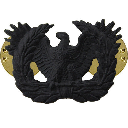 Army Officer Collar Device: Warrant Officer - black metal