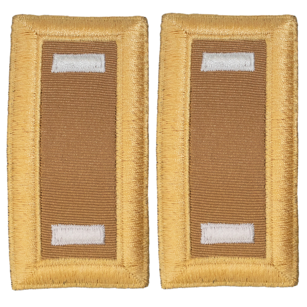Army Shoulder Strap: First Lieutenant Quartermaster - female