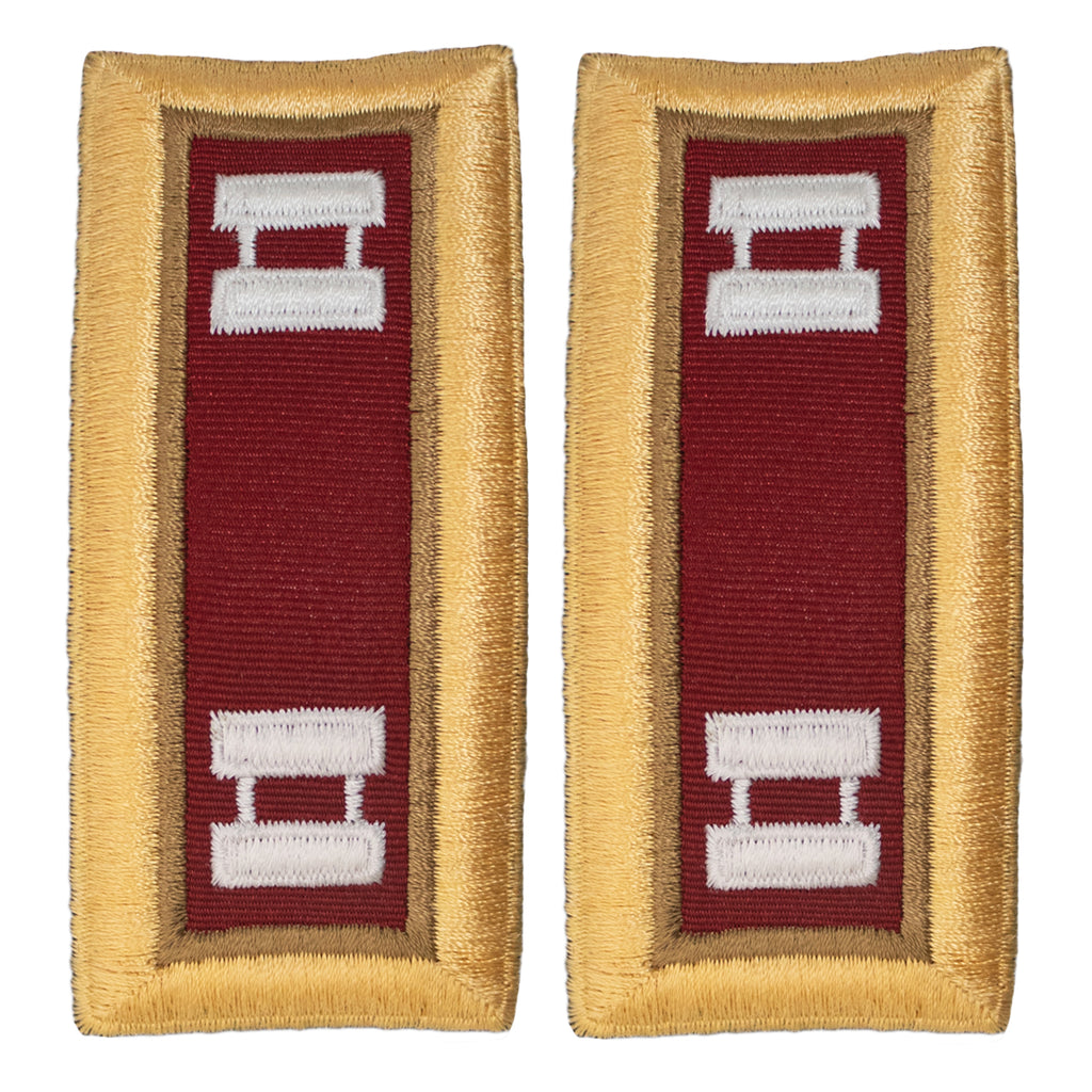 Army Shoulder Strap: Captain Logistics