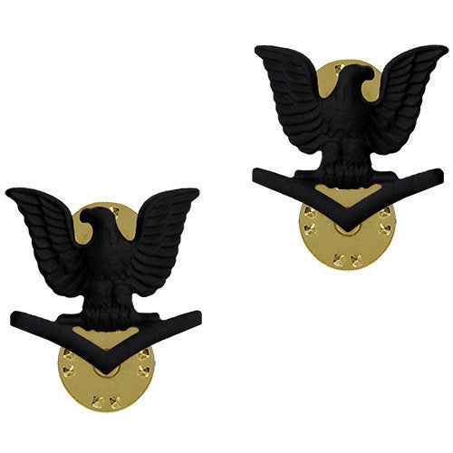 Navy Collar Device: E4 Seabee - black metal