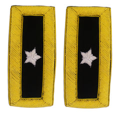 Army Shoulder Strap: Brigadier General - Gold Bullion Frame with Rank