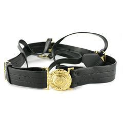 Coast Guard Sword Belt: Vinyl with Gold Buckle