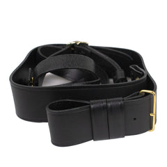 Navy Sword Belt Black Leather for New Navy CPO Cutlass