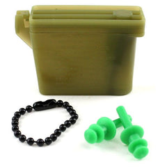 Ear Plugs with Chain and Case - small size