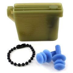 Ear Plugs with Chain and Case - large size