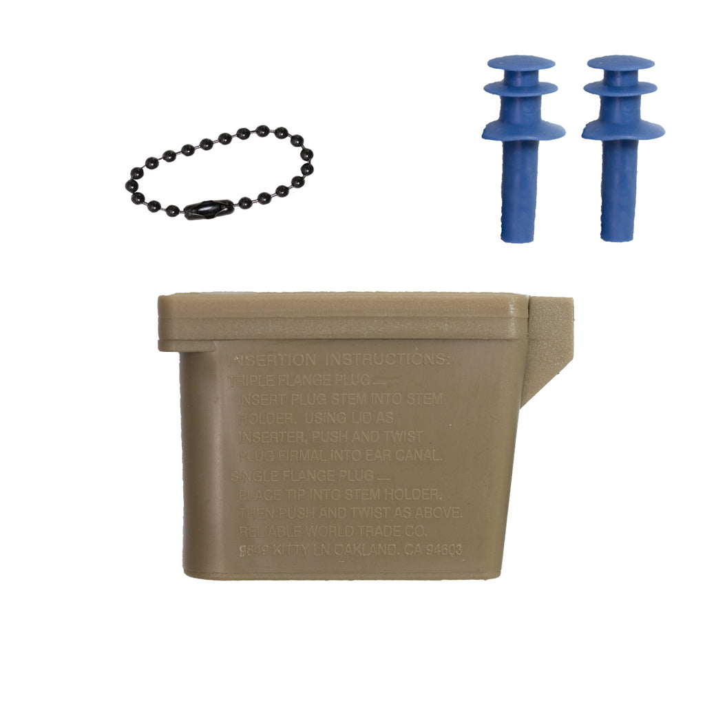 Ear Plugs: Plugs with Chain and OCP Case - large size