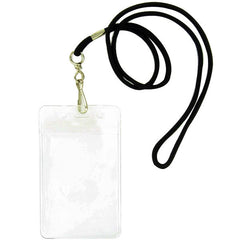 Identification Tag Card Holder - black lanyard
