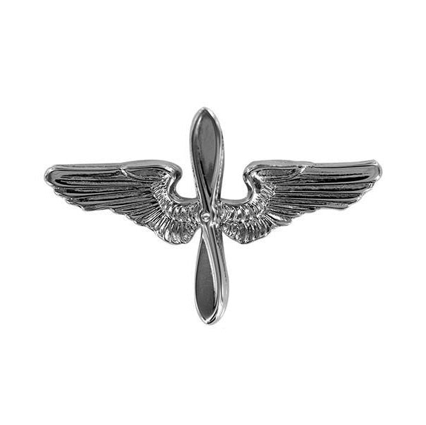 Air Force Academy Cap Device: Silver Wings and Silver Propeller