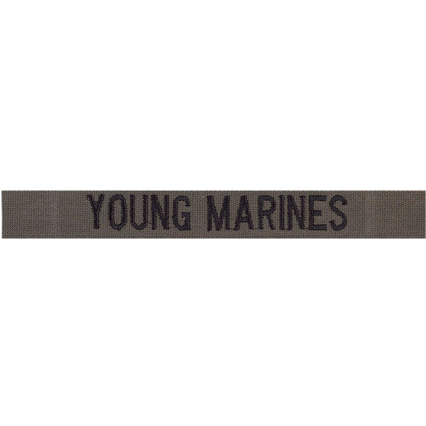 Young Marine's Name Tape: Embroidered on Olive Drab