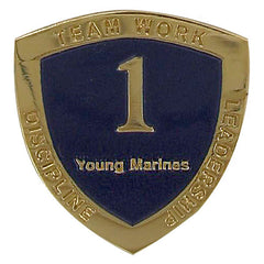 Young Marine's: Adult Volunteers Service Pin, 1 Year of Service