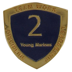 Young Marine's: Adult Volunteers Service Pin, 2 Years of Service
