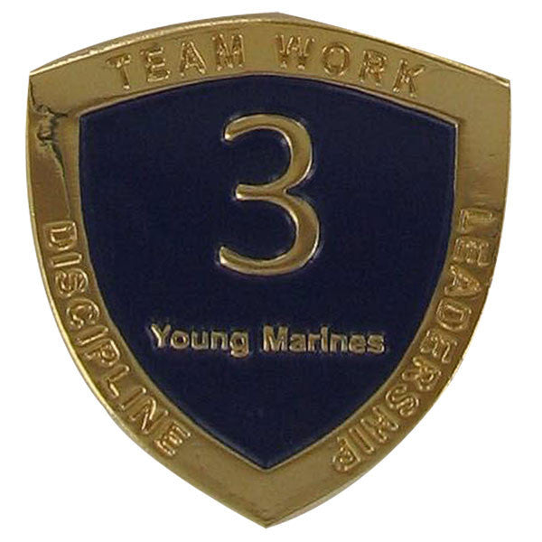 Young Marine's: Adult Volunteers Service Pin, 3 Years of Service