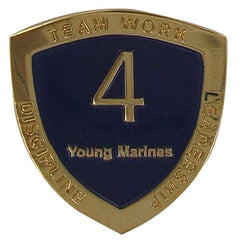 Young Marine's: Adult Volunteers Service Pin, 4 Years of Service