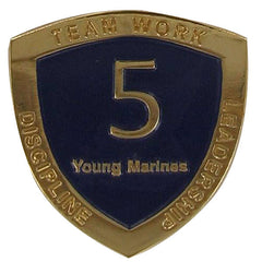 Young Marine's: Adult Volunteers Service Pin, 5 Years of Service