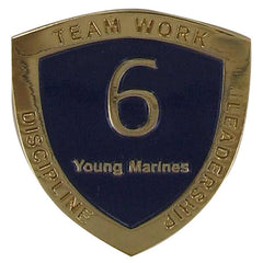 Young Marine's: Adult Volunteers  Service Pin, 6 Years of Service