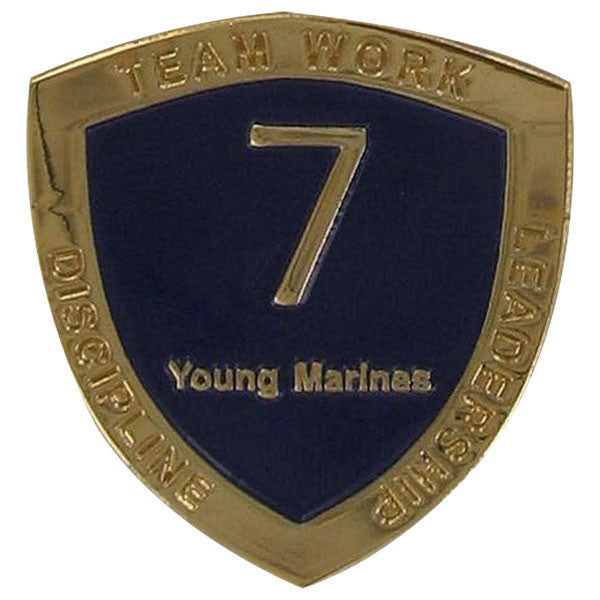 Young Marine's: Adult Volunteers Service Pin, 7 Years of Service
