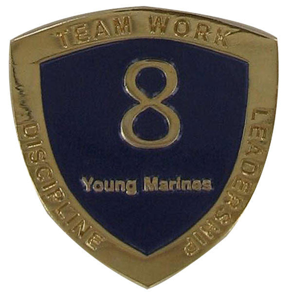 Young Marine's: Adult Volunteers Service Pin, 8 Years of Service