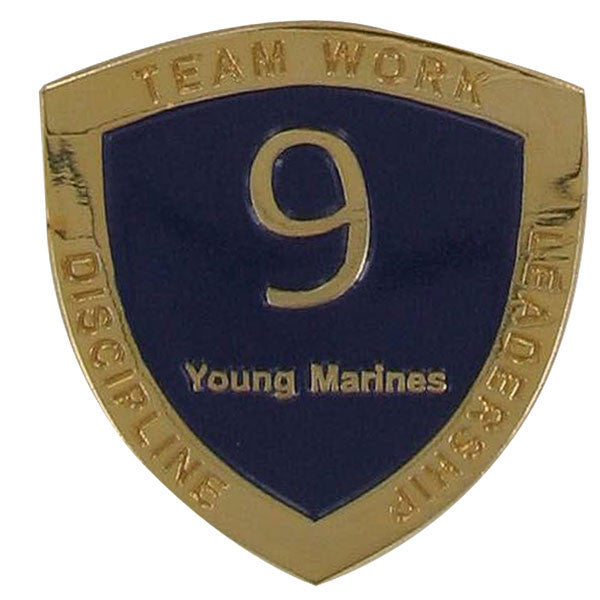 Young Marine's: Adult Volunteers Service Pin, 9 Years of Service