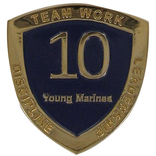 Young Marine's: Adult Volunteers Service Pin, 10 Years of Service