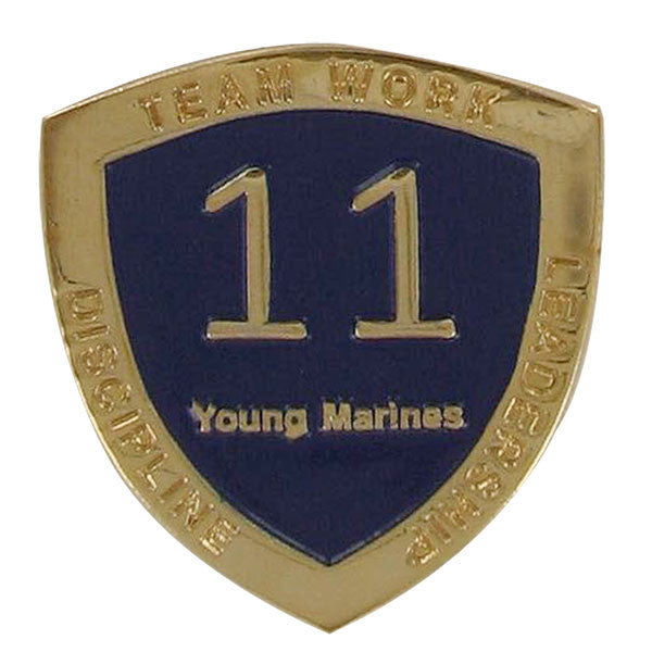 Young Marine's: Adult Volunteers Service Pin, 11 Years of Service