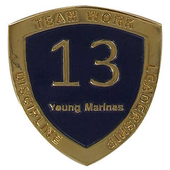 Young Marine's: Adult Volunteers Service Pin, 13 Years of Service