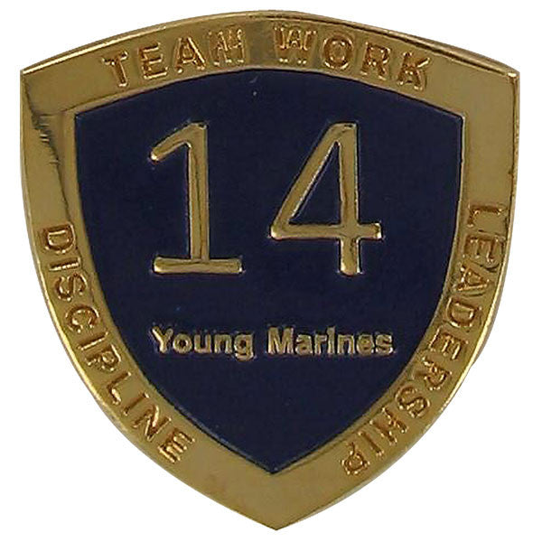 Young Marine's: Adult Volunteers Service Pin, 14 Years of Service