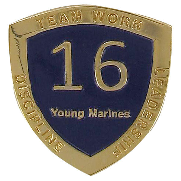 Young Marine's: Adult Volunteers  Service Pin, 16 Years of Service