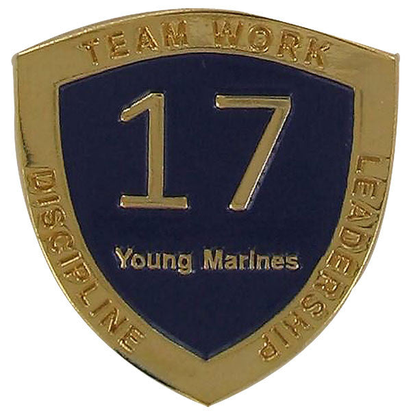 Young Marine's: Adult Volunteers Service Pin, 17 Years of Service