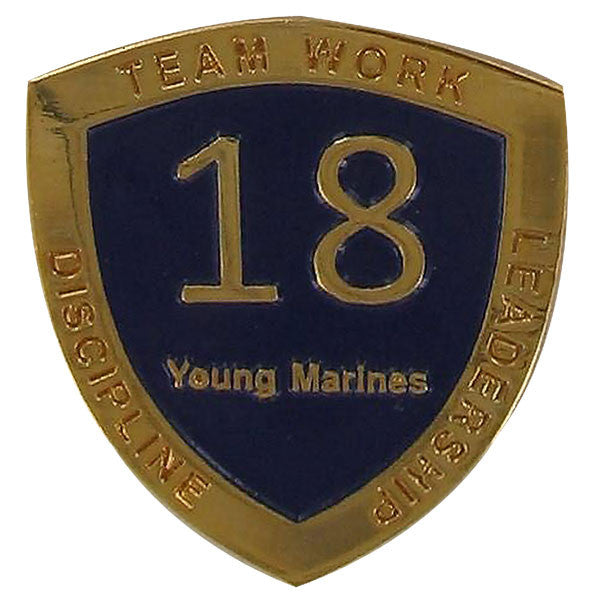 Young Marine's: Adult Volunteers Service Pin, 18 Years of Service