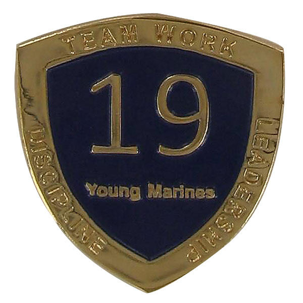 Young Marine's: Adult Volunteers Service Pin, 19 Years of Service