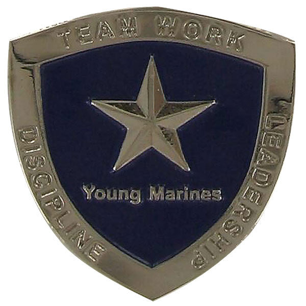 Young Marine's: Adult Volunteers Service Pin, 20 or More Years of Service