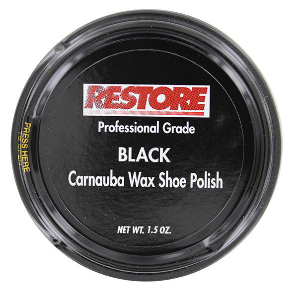 Shoe and Boot Polish: Restore Carnauba Wax - Black