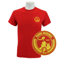 Young Marine's T-Shirt: Red with Small Yellow Shield
