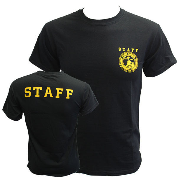 Young Marine's T-Shirt: Staff - Black with Yellow Shield