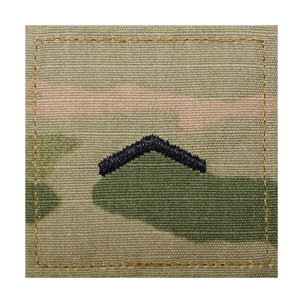 Army ROTC OCP Rank w/hook closure : Private (PV2)