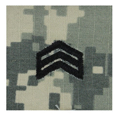Army ROTC ACU Rank w/hook closure : Sergeant (SGT)