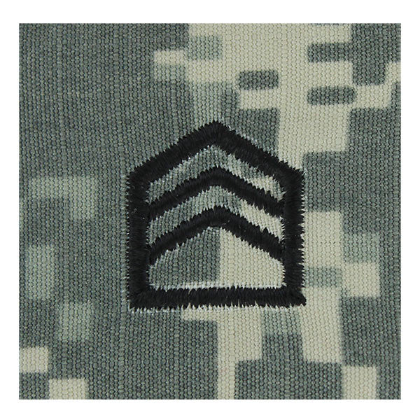 Army ROTC ACU Rank w/hook closure: Staff Sergeant (SSGT)