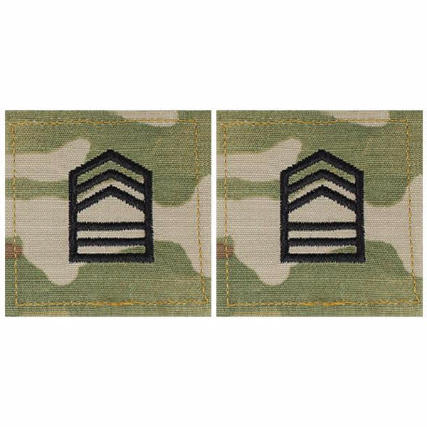 Army ROTC OCP Rank w/hook closure : Master Sergeant (MstrSgt)