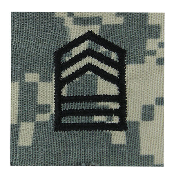 Army ROTC ACU Rank w/hook closure : Master Sergeant (MSGT)