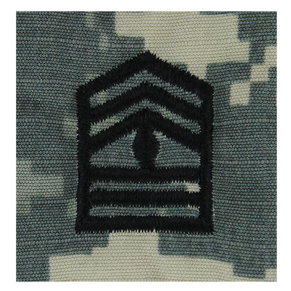 Army ROTC ACU Rank w/hook closure : First Sergeant (1SG)