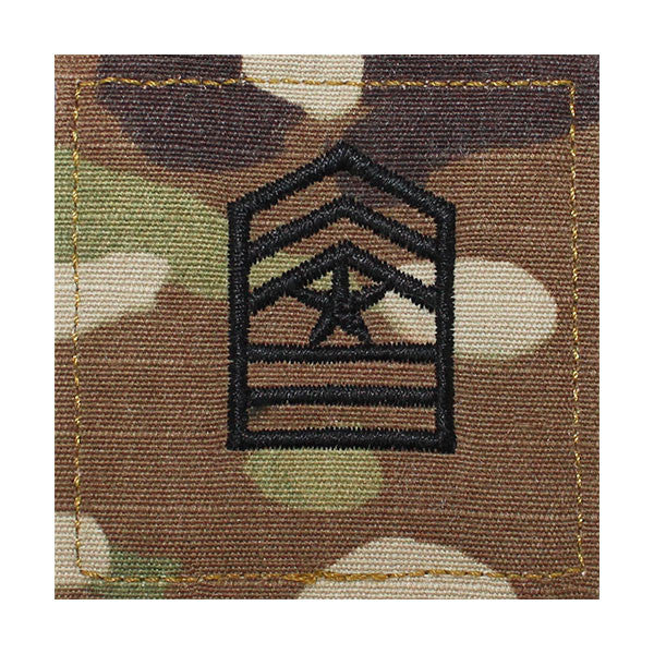 Army ROTC OCP Rank w/hook closure : Sergeant Major (Sgt Maj)