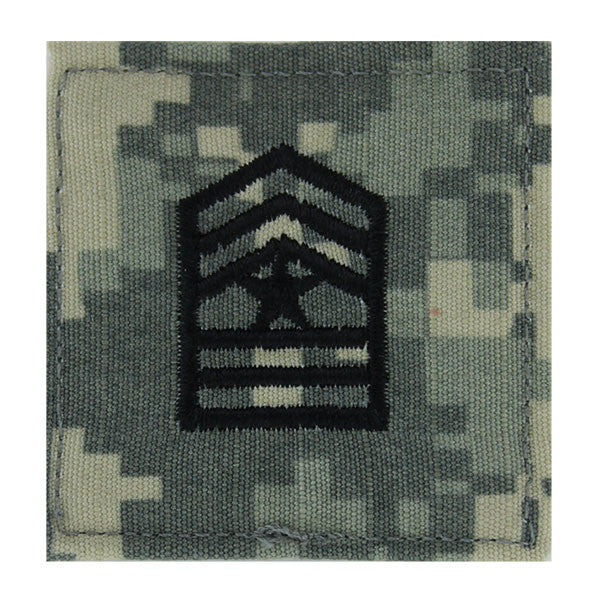 Army ROTC ACU Rank w/hook closure : Sergeant Major (SGM)