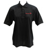 Ladies Black Performance Polo Shirt Embroidered with Red Young Marines Swoosh