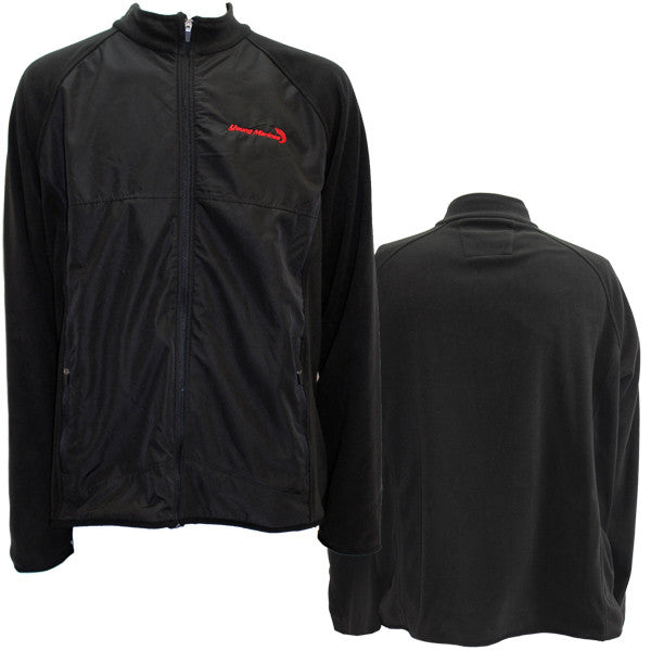 Ladies Black Young Marines Fleece Jacket With Red Swoosh Logo