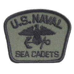 USNSCC - Naval Sea Cadets Black on Olive Drab for BDU Embroidered Cap Device