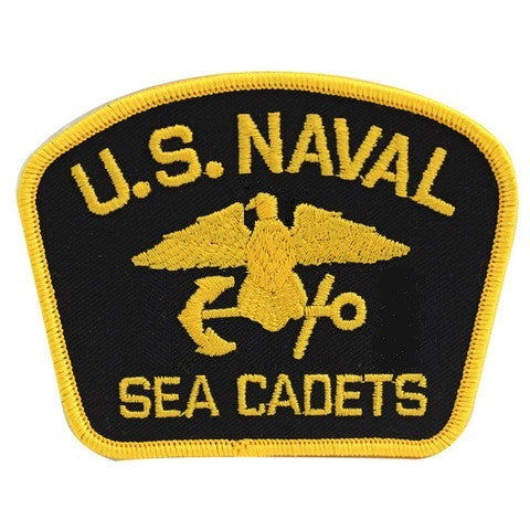 USNSCC - Naval Sea Cadets Gold on Black for Blue Digital Embroidered Cap Device
