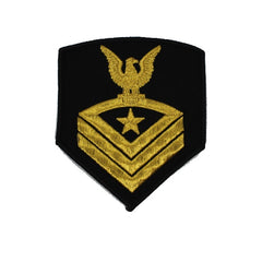 USNSCC - CPO (Black) Sea Cadet Rating Badge Male (Gold on Black)